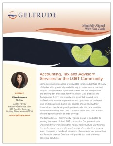 Geltrude Accounting Tax and Advisory Services for the LGBT Community Brochure