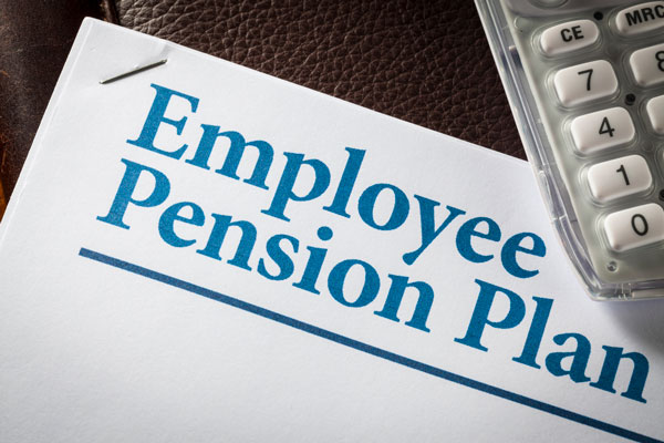 employee pension plan printed out